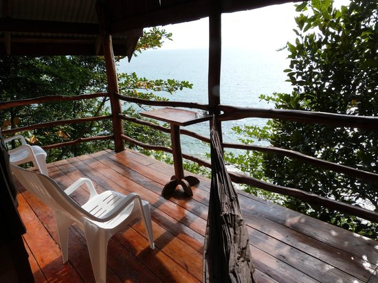 Jungle Hill Bungalow : vue du balcon (deluxe sea view bungallow)