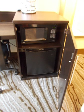 Holiday Inn Rock Island - Quad Cities: Room has microwave and mini fridge