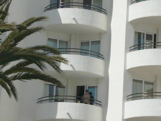 Hipotels Dunas Cala Millor: Unser Balkon im 4.OG