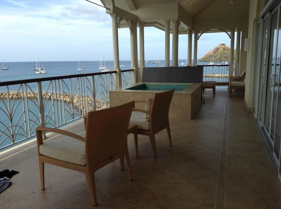 The Landings St. Lucia: Part of our view from Terrace