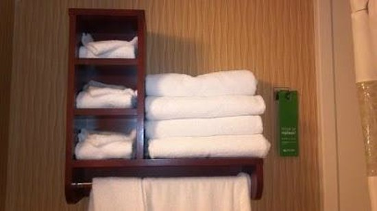 Hampton Inn Jacksonville Downtown I-95: 4 sets of towels for each room