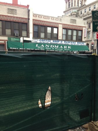 Landmark Coffee Shop & Pancake House : construction in the way, but nice little place