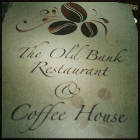 Old Bank Restaurant and Coffee House: Love the menu design