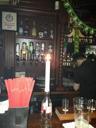 Paddy O'Brien's Irish Pub: when the lights went out