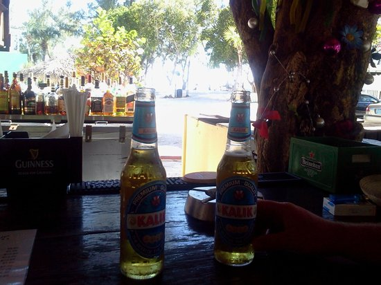Coral Harbour Beach House and Villas: kalik beer (nice and refreshing local beer!!)