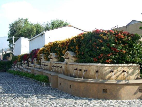 Camino Real Antigua: Fuentes en la entrada