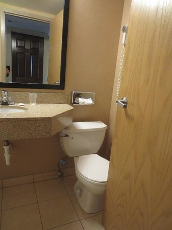 Quality Inn: cramped bathroom