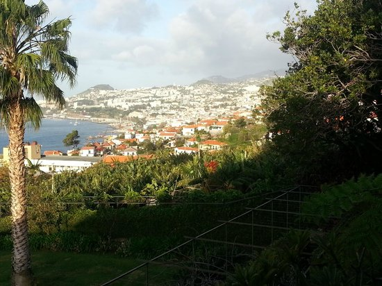 Quinta Sao Goncalo: view from garden of Funchal
