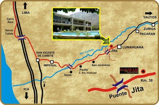 Hotel Rumi Wasi: Croquis de ubicación del hotel