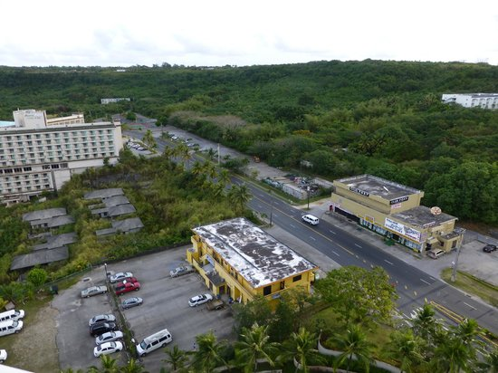 The Westin Resort Guam: view of gentlemen's clubs and abandoned buildings.