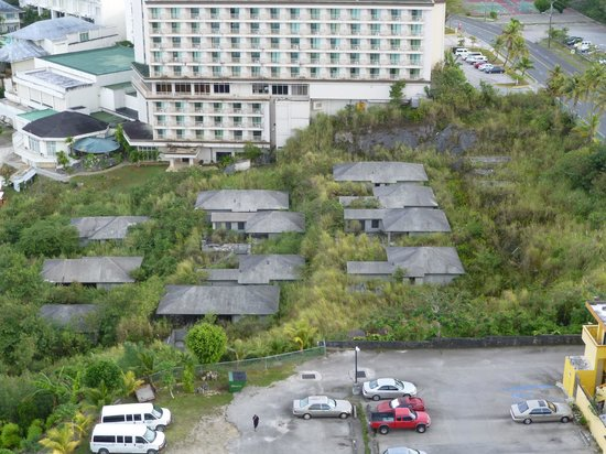 The Westin Resort Guam: View of abandoned buildings.