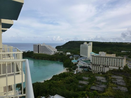 The Westin Resort Guam: view of beach from room on the street side of hotel