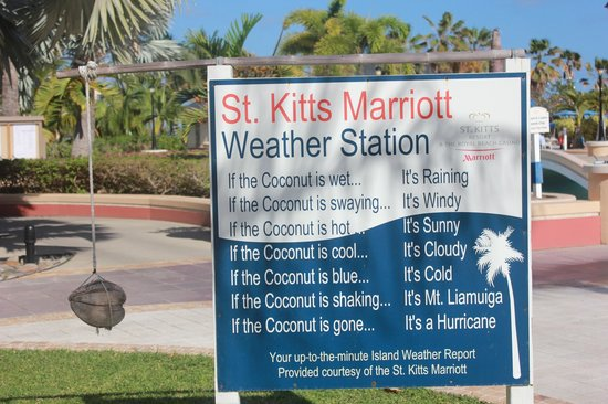 St. Kitts Marriott Resort & The Royal Beach Casino: Marriott Weather Report.