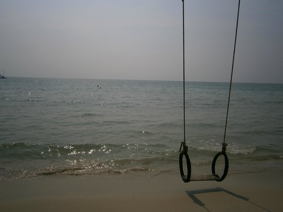 Santhiya Tree Koh Chang Resort: The happy little tire swing.