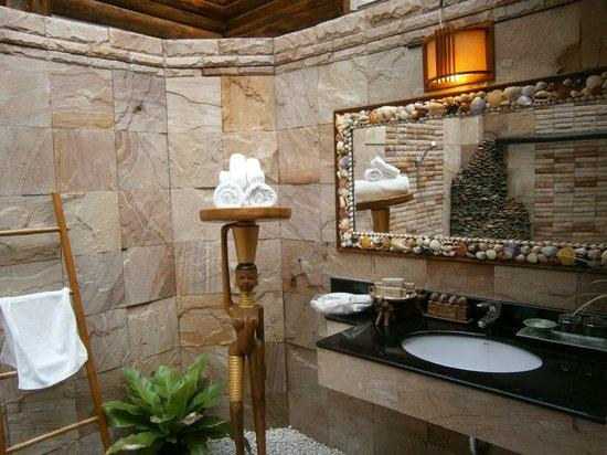 Santhiya Tree Koh Chang Resort: This was our bathroom.  Wow!