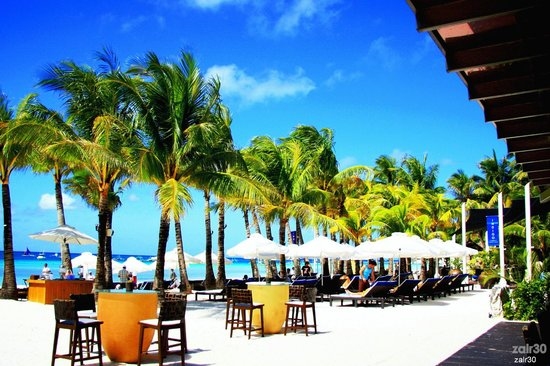 Discovery Shores Boracay: Beach front view from Main Dining Hall