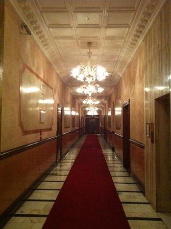 Bauer Hotel: le couloir