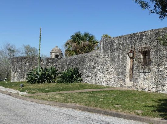 Quarters at Presidio la Bahia: View from the outside of the fort (door on left is your front door)