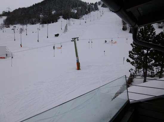 Haus am Fang: View onto beginner slopes