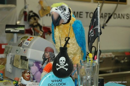 Captain Dan's Pirate Pastry Shop : Polly wants a pastry!