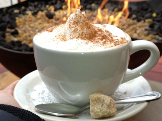 Bistro 412: Cappuccinos by the fire