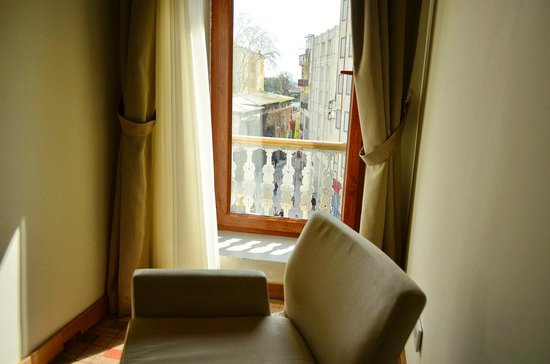 Serene Hotel Istanbul : The window.