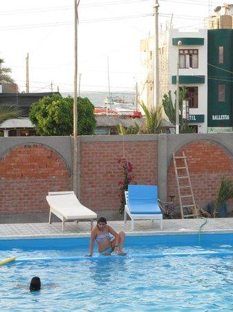 Refugio del Pirata: La piscina y detras el mar