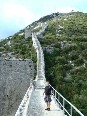 Remisens Hotel Albatros: Wall at Ston