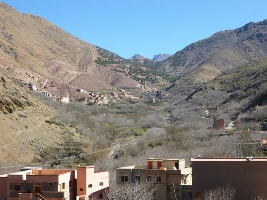 Riad Atlas Toubkal: A view up the valley - great for a walk
