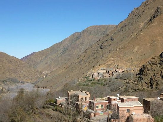 Riad Atlas Toubkal: View down the valley from the roof