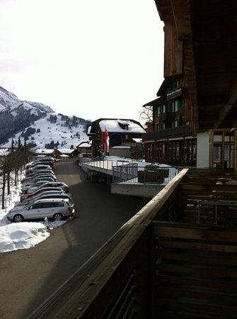 Hotel Hari im Schlegeli: blick von der Terrasse