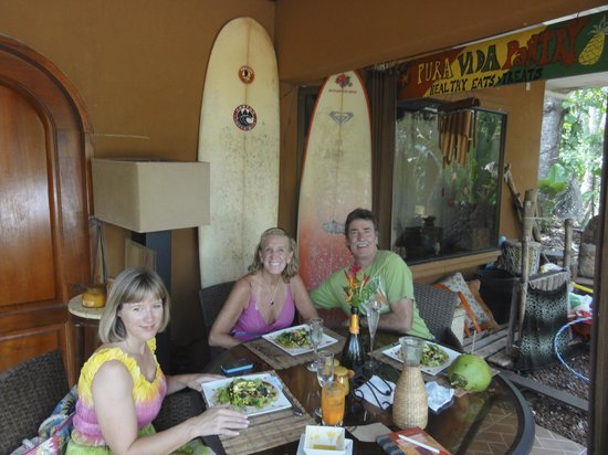Pura Vida Pantry: Jeannie, Cindy and Gary enjoying their Lunch