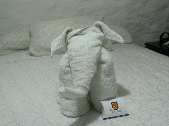 El Escudero Lodge: presentación de las toallas