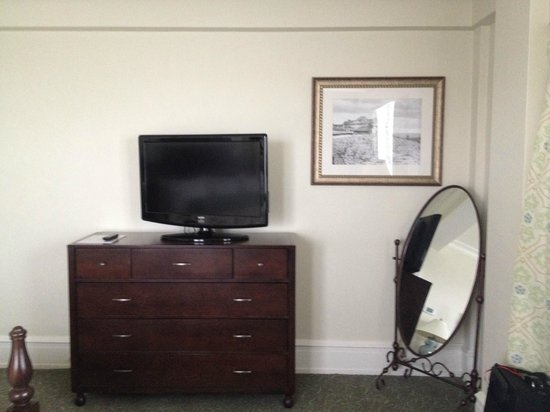 The Inn at Pocono Manor: The TV/Mirror in Our Room