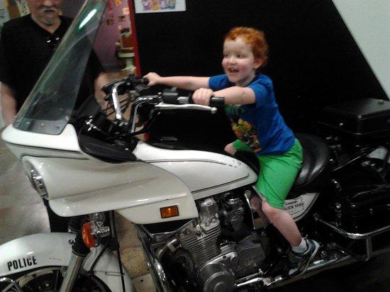Children's Museum of Stockton: Motorcycle Cop:)