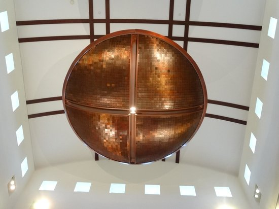 The Eiteljorg Museum: HUge copper ceiling fixture