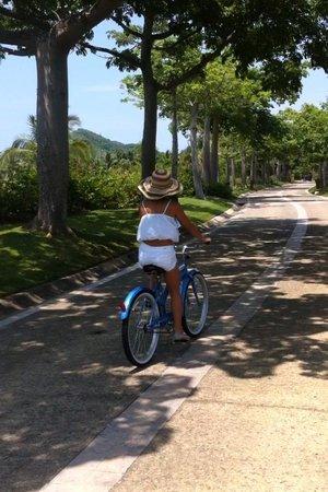 The St. Regis Punta Mita Resort: riding hotel bikes into town