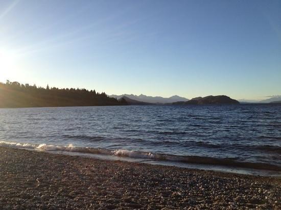 Cabanas La Deseada: playa bonita, a mts de las cabañas