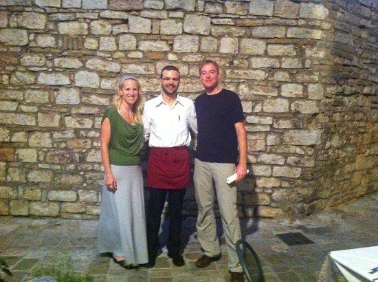 Trattoria da Erminio: Ricardo, Becky and Myself