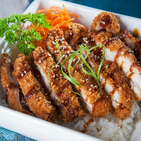Sushi Wave Authentic Japanese: free range chicken katsu don with house-made miso sauce