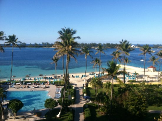 British Colonial Hilton Nassau: beach view from 5th floor
