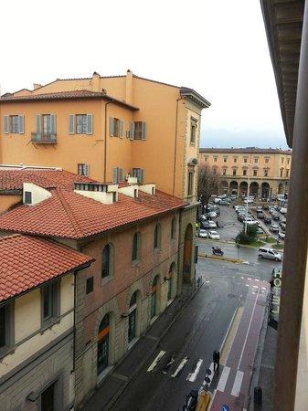 Hotel Benvenuti: por esa calle se llega al duomo