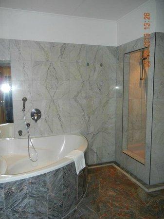 Altwienerhof: Bagno con doccia e vasca