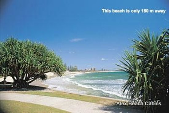 Alex Beach Cabins & Tourist Park: Surf 200 metres away