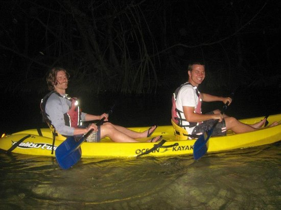 Bio Bay Kayaking: Josh & Tyler before they