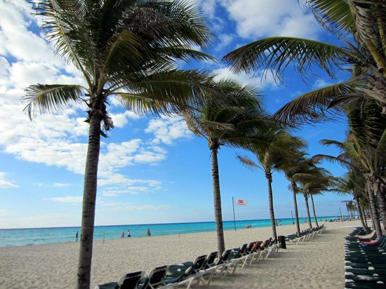 Hotel Riu Playacar : Beach!
