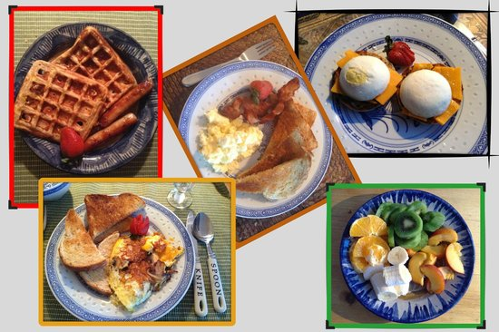 Blue Raven B&B: 5 excellent breakfast meals :-)