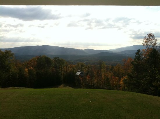 Christopher Place Resort: View from the back porch in the morning