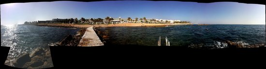 Constantinou Bros Athena Beach Hotel: FROM THE JETTY