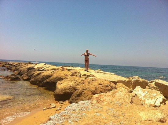 Constantinou Bros Athena Beach Hotel: BEACH AREA